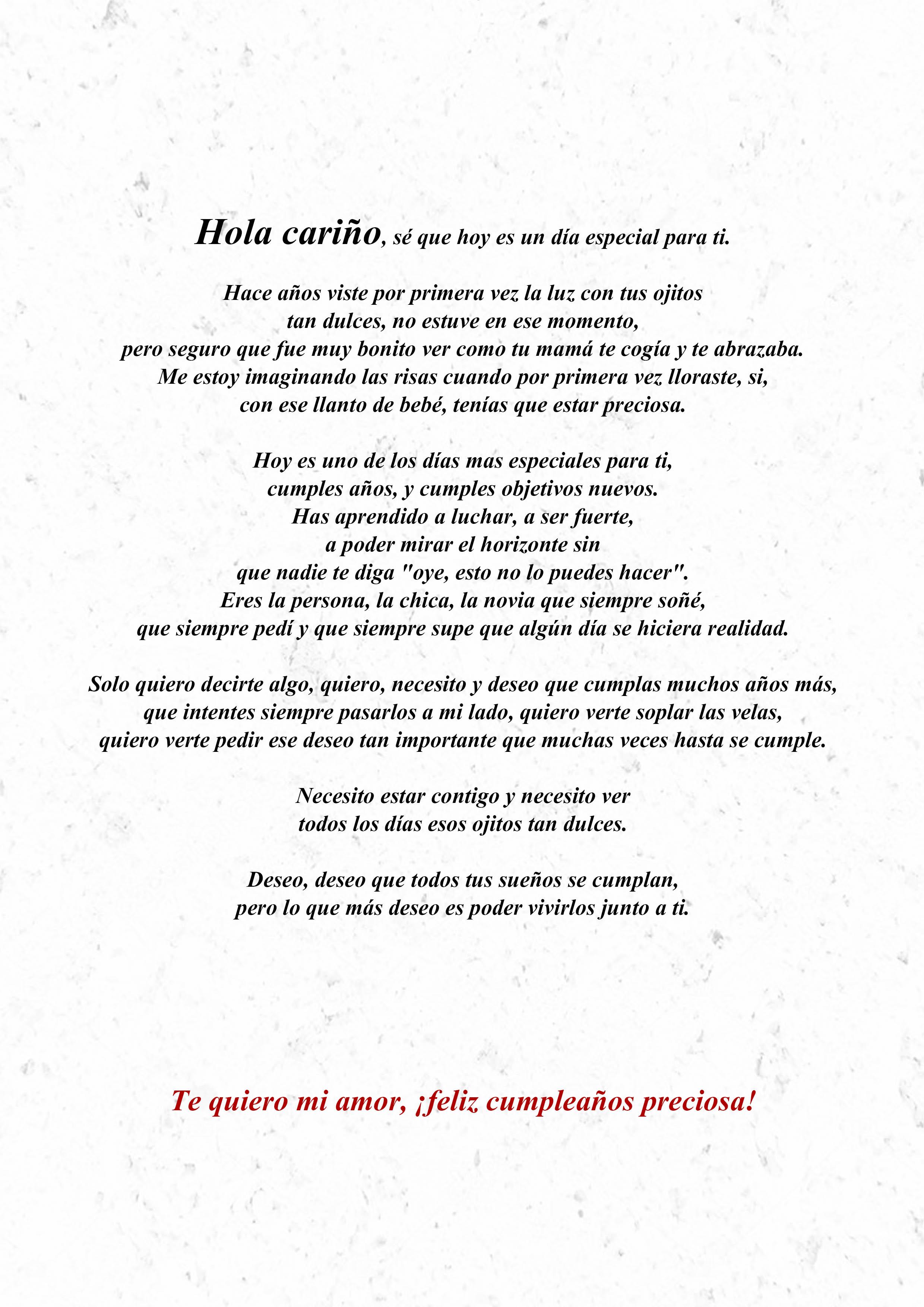 Carta Para La Mejor Novia Del Mundo En El Día De Su Cumpleaños