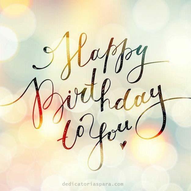 Cuadrado Feliz Cumpleaños En Ingles