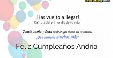 Feliz Cumpleaños Andria