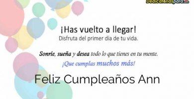 Feliz Cumpleaños Ann