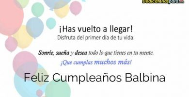 Feliz Cumpleaños Balbina