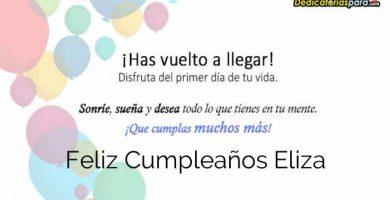 Feliz Cumpleaños Eliza