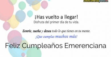 Feliz Cumpleaños Emerenciana