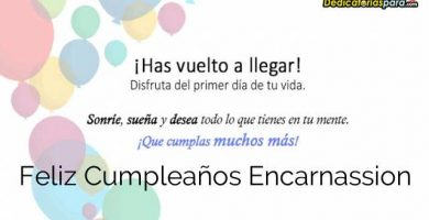 Feliz Cumpleaños Encarnassion