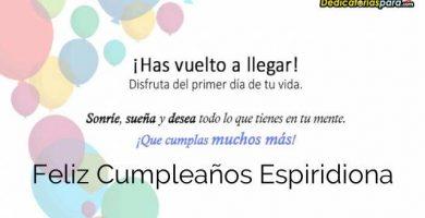 Feliz Cumpleaños Espiridiona