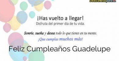 Feliz Cumpleaños Guadelupe