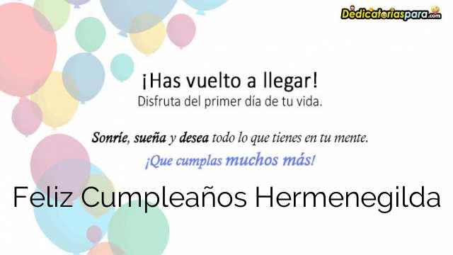 Feliz Cumpleaños Hermenegilda