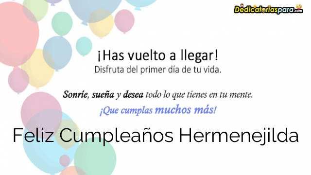 Feliz Cumpleaños Hermenejilda