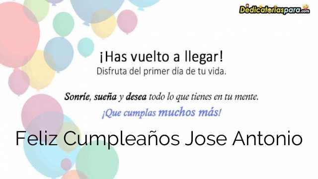 Feliz Cumpleaños Jose Antonio