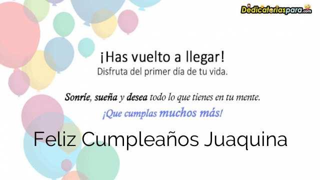 Feliz Cumpleaños Juaquina