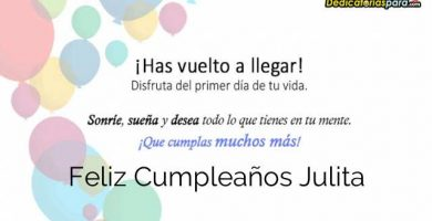 Feliz Cumpleaños Julita