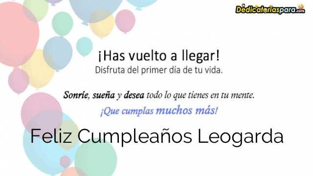 Feliz Cumpleaños Leogarda