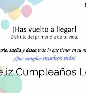 Feliz Cumpleaños Loli
