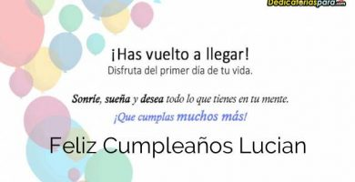 Feliz Cumpleaños Lucian