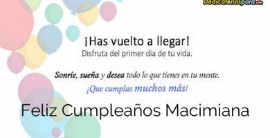 Feliz Cumpleaños Macimiana
