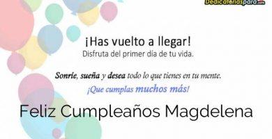 Feliz Cumpleaños Magdelena