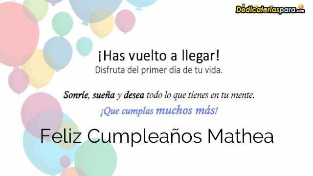 Feliz Cumpleaños Mathea
