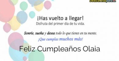 Feliz Cumpleaños Olaia