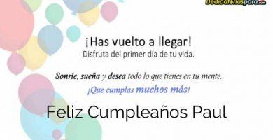 Feliz Cumpleaños Paul