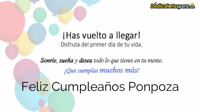 Feliz Cumpleaños Ponpoza