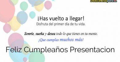 Feliz Cumpleaños Presentacion