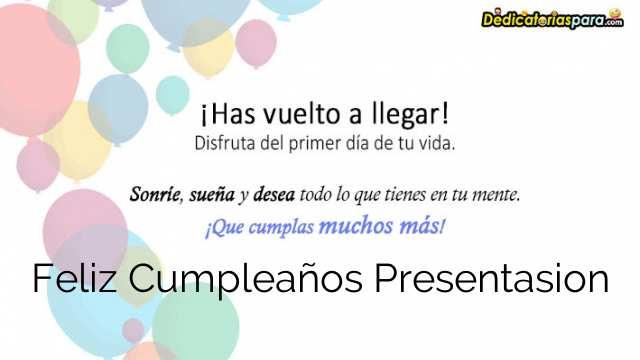 Feliz Cumpleaños Presentasion