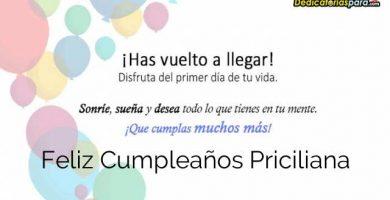 Feliz Cumpleaños Priciliana