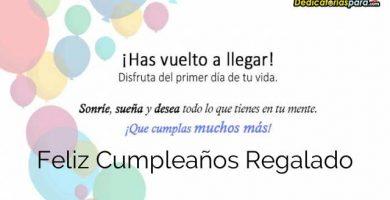 Feliz Cumpleaños Regalado