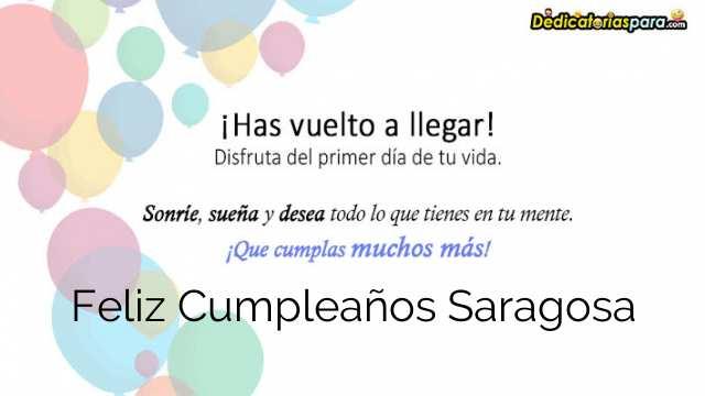Feliz Cumpleaños Saragosa
