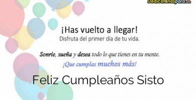 Feliz Cumpleaños Sisto