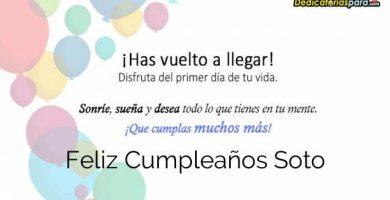 Feliz Cumpleaños Soto