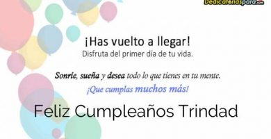 Feliz Cumpleaños Trindad