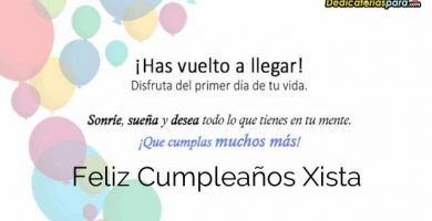 Feliz Cumpleaños Xista