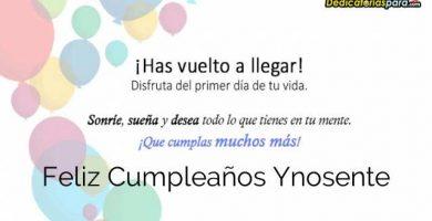Feliz Cumpleaños Ynosente
