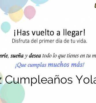 Feliz Cumpleaños Yolanda
