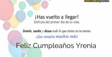 Feliz Cumpleaños Yrenia