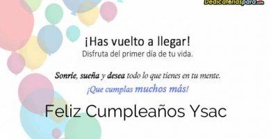 Feliz Cumpleaños Ysac