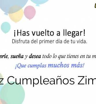 Feliz Cumpleaños Zimona