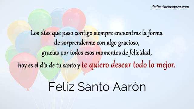 Feliz Santo Aarón