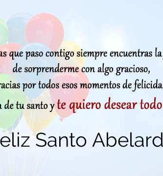 Feliz Santo Abelardo
