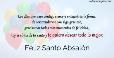 Feliz Santo Absalón