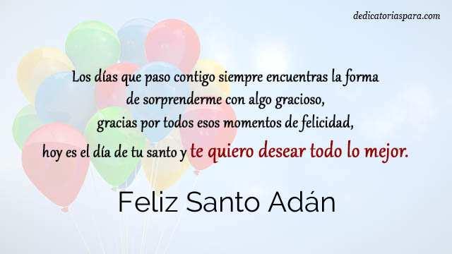 Feliz Santo Adán