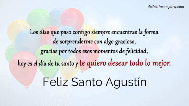 Feliz Santo Agustín