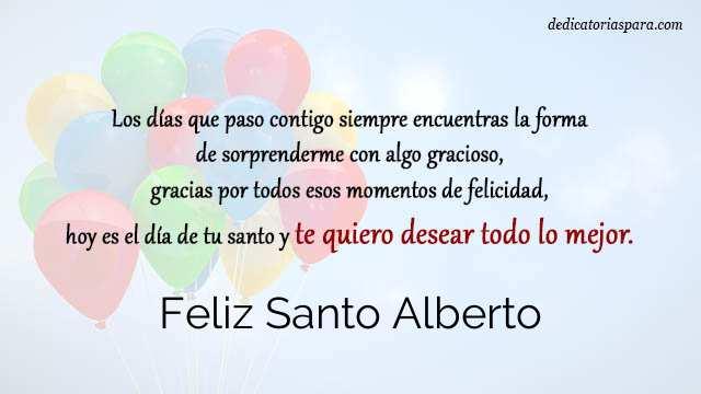 Feliz Santo Alberto