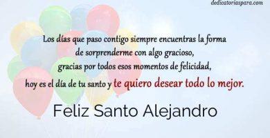 Feliz Santo Alejandro