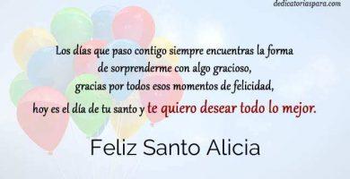 Feliz Santo Alicia