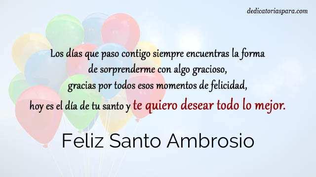 Feliz Santo Ambrosio