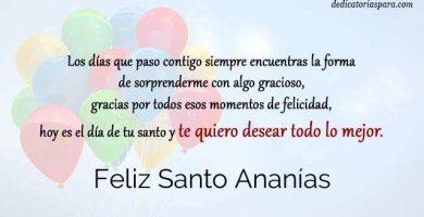 Feliz Santo Ananías