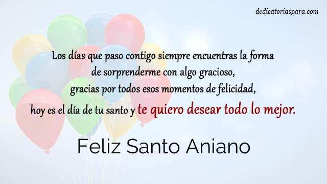 Feliz Santo Aniano