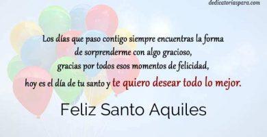Feliz Santo Aquiles